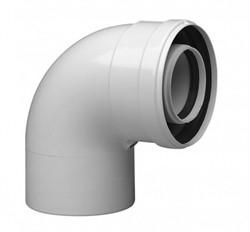 Коаксиальный отвод 87°, диам. 110/160, HT для котла BAXI ( KUG714133610 ) ( KUG71413361 ) - фото 47174