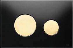 Кнопка смыва TECEloop стекло черное, клав. золотые. ( 9240658 ) - фото 5609