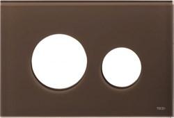 Лицевая панель клавиши смыва TECEloop, стекло, цвет - кофейный ( 9240678 ) - фото 5635