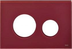 Лицевая панель клавиши смыва TECEloop, стекло, цвет - рубиновый (Alape) ( 9240679 ) - фото 5637