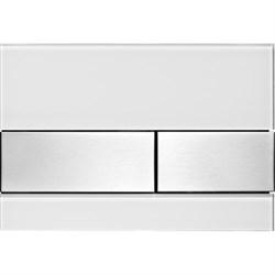 Кнопка смыва TECESquare, стекло белое, клавиши шлифованная нерж. сталь ( 9240801 ) - фото 5673