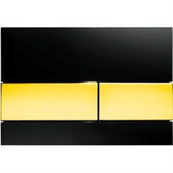 Кнопка смыва TECESquare, стекло черное, клавиши позолоченные ( 9240808 ) - фото 5681