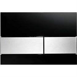 Кнопка смыва TECESquare, стекло черное, клавиши шлифованная нерж. сталь ( 9240806 ) - фото 5685