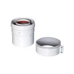 Адаптер для вертикального коаксиального выхода, D=60/100 мм, длина 112 мм - фото 8412