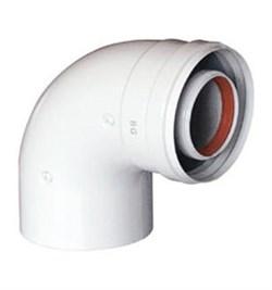 Коаксиальный отвод 90°, диам. 60/100 мм, без муфты для котла BAXI ( KHG71410151 ) ( KHG714101510 ) - фото 8424