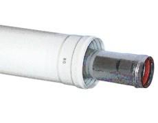 Коаксиальное удлинение диам. 60/100 мм, длина 500 мм для котла BAXI ( KHG714103910 ) - фото 8524