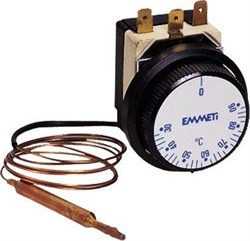 Термостат EMMETI регулир.с каппиляр.1500мм 30-90гр, контакт до 400 В ( 02016016 ) - фото 9809