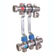 """Коллектор для систем отопления с термостатическими клапанами в сборе, 1"""" х 3/4"""", 12 контуров TECE 340162"""