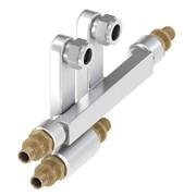 Двойной тройник для подключения радиаторов Загл х 15 Cu х 16 TECE 730135