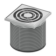 Базовая решетка 100 х 100 мм с монтажным элементом, пластик TECE 3660001