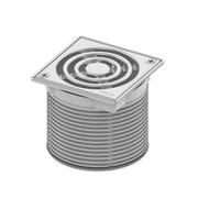 Базовая решетка 100 х 100 мм с фиксаторами, с монтажным элементом, сталь TECE 3660009