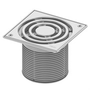 Базовая решетка 150 х 150 мм с монтажным элементом, пластик TECE 3660003