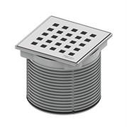 Декоративная решетка quadratum 100 х 100 м с монтажым элементом, сталь TECE 3660007