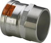 Муфта Viega пресс-Н 76х2'1/2 нержавеющая сталь Sanpress Inox XL SC-Contur со стопорным кольцом ( 482923 )