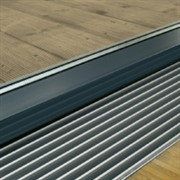 Декоративная решетка поперечная, ширина:260 мм, цвет черный