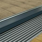 Верхняя декоративная решетка, В=410 мм, H=15 мм, цвет натуральный алюминий
