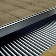 Декоративная решетка поперечная, ширина:145 мм, цвет светлая латунь