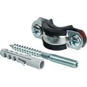 "STOUT SAC-0020-100012 STOUT Хомут для труб, комплект: хомут+шпилька шуруп +дюбель пластиковый 1/2""(20-24)"