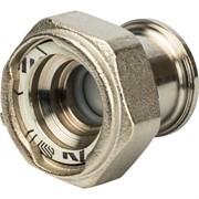"""SDG-0019-020025 STOUT Разъемное соединение с плоским уплотнением и обратным клапаном, никелированное 1"""""""
