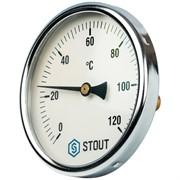"""SIM-0001-105015 STOUT Термометр биметаллический с погружной гильзой. Корпус Dn 100 мм, гильза 50 мм 1/2"""""""