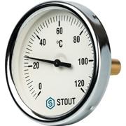 """SIM-0001-805015 STOUT Термометр биметаллический с погружной гильзой. Корпус Dn 80 мм, гильза 50 мм 1/2"""""""