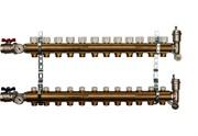 STOUT SMB 0468 000012 STOUT Распределительный коллектор из латуни без расходомеров 12 вых.