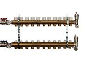 STOUT SMB 0468 000011 STOUT Распределительный коллектор из латуни без расходомеров 11 вых.
