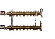 STOUT SMB 0468 000009 STOUT Распределительный коллектор из латуни без расходомеров 9 вых.