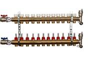 STOUT SMB 0473 000012 STOUT Распределительный коллектор из латуни с расходомерами 12 вых.