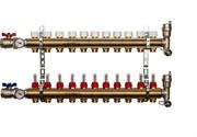 STOUT SMB 0473 000011 STOUT Распределительный коллектор из латуни с расходомерами 11 вых.