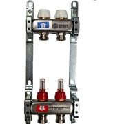 SMS 0917 000002 STOUT Коллектор из нержавеющей стали с расходомерами 2 вых.
