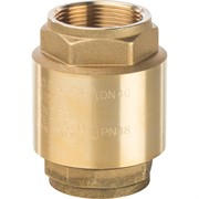 """SVC-0002-000015 STOUT 1/2"""" Клапан обратный пружинный муфтовый с пластиковым седлом"""