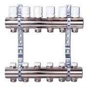 Коллектор отопления Luxor CD 468/5 1''х3/4 EK с вентилями