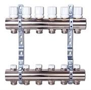Коллектор отопления Luxor CD 468/6 1''х3/4 EK с вентилями