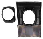 Элемент из пластмассы для пересечения дымоходом/воздуховодом косой крыши черный