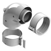 DN60/100 адаптер для котла угловой 90° коаксиальный (совместимый с Vaillant, Protherm NEW)(с логотипом)