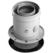 DN60/100 адаптер для котла вертикальный коаксиальный (совместимый с Bosch, Buderus)(с логотипом)