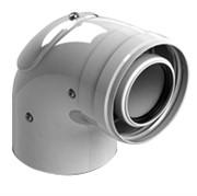 конденсац. угол 90° DN60/100 м/п с инспекционным окном PP-FE