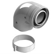 конденсац. адаптер 90° DN60/100 м/п PP-FE c хомутом (совместим. с Vaillant, Ariston)