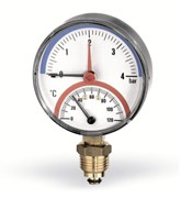 "WATTS 10018749 Watts F+R828 Термоманометр радиальный 6х1/2"" DN 80 (0-6 бар)"
