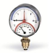 "WATTS 10025525 Watts F+R828 Термоманометр радиальный 10х1/2"" DN 80 (0-10 бар)"