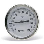 """10005810(03.01.061) Watts F+R801(T) 63/75 Термометр биметаллический с погружной гильзой 63 мм, штуцер 75 мм. (1/2"""",160""""С)"""