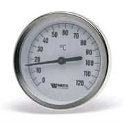 10006071(03.03.060) Watts F+R801(T) 100/75 Термометр биметаллический с погружной гильзой 100 мм