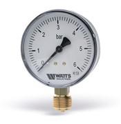 "WATTS 10007380(03.12.110) Watts F+R200(MDR) 50/10x1/4"" Манометр радиальный 50мм, 0-10 бар"