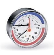 "WATTS 10009465(03.32.005)(TIM80 0-10BAR) Watts FR 818(TMAX) 10 x 1/2"" Термоманометр аксиальный, 80 мм, 0-10 бар"