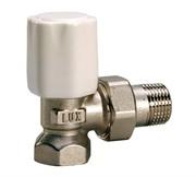 Luxor tekna RS 02 1/2'' вентиль радиатора отопления регулирующий угловой для стальных труб 10022100