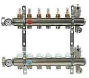 """Коллектор отопления Comisa 1""""- 5 выходов (Италия) с расходомерами"""
