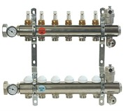 """Коллектор отопления Comisa 1""""- 9 выходов (Италия) с расходомерами"""