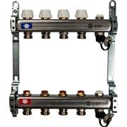 SMS-0932-000004 STOUT Коллектор из нержавеющей стали без расходомеров, с клапаном вып. воздуха и сливом 4 вых.