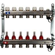 STOUT SMS-0927-000006 STOUT Коллектор из нержавеющей стали с расходомерами, с клапаном вып. воздуха и сливом 6 вых.